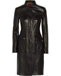 Tamara Mellon Doublefaced Leather Coat - Lyst