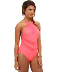 Seafolly Goddess High Neck Maillot - Lyst