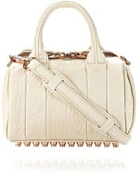 Alexander Wang Mini Rockie In Pebbled Opaline With Rose Gold - Lyst