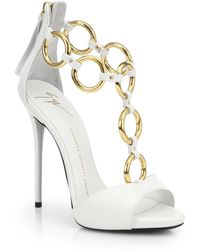Giuseppe Zanotti Leather Chainstrap Sandals - Lyst