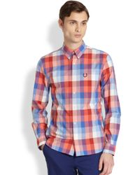 Fred Perry Modernist Check Print Sportshirt - Lyst
