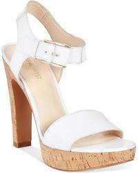 Nine West Elenny High Heel Platform Sandals - Lyst