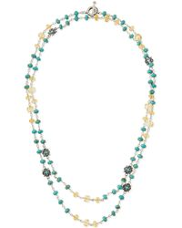 Stephen Dweck - Silver Turquoise & Citrine Flower Necklace - Lyst