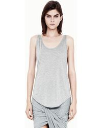 Helmut Lang Kinetic Jersey Scoop Neck Tank - Lyst