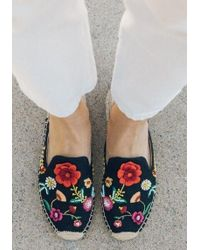 Soludos - Embroidered Floral Espadrilles - Lyst