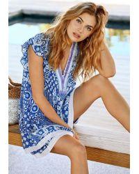 Poupette - Sasha Dress Blue Mali - Lyst