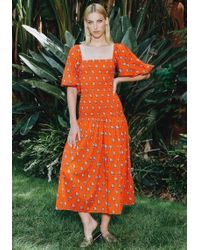 9548928660a5 Rhode Resort - Harper Dress Red Flower - Lyst