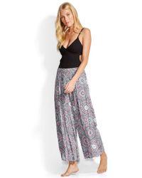 Seafolly | Crochet Print Trousers | Lyst