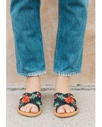 Soludos - Embellished Floral Sandals - Lyst