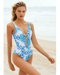 Seafolly - Sunflower Lace Up Swimsuit - Lyst