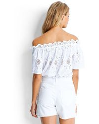 Seafolly - White Denim Boyfriend Shorts - Lyst