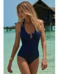 Melissa Odabash - Tampa Swimsuit Navy Zig Zag - Lyst
