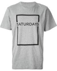 Saturdays Surf NYC Square Border Logo Print T-Shirt - Lyst