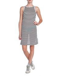 T By Alexander Wang Striped Tank Dress - Lyst