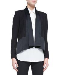 Jason Wu Long Sleeve Drape Front Cardi Jacket - Lyst