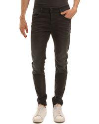 Diesel Sleenker Washed Grey Slim Fit Skinny Jeans - Lyst