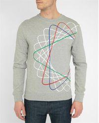 Carven | Grey And Mottled Grey Spiral Round-neck Sweatshirt | Lyst