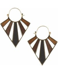 Topshop | Cut-out Triangle Wooden Earrigns | Lyst