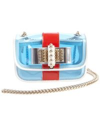 Christian Louboutin White Leather Sweety Charity Multicolor Transparent Accent Bow Tie Detail Shoulder Bag - Lyst