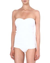 Melissa Odabash Antibes Ruched Swimsuit White - Lyst