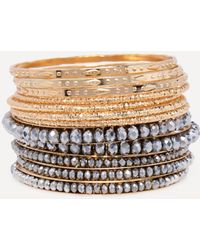 Bebe - Mixed Metal Bangle Set - Lyst