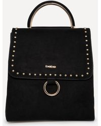 Bebe - Studded Faux Suede Backpack - Lyst
