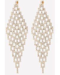 Bebe - Crystal Mesh Kite Earrings - Lyst