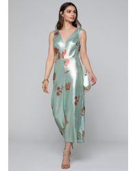 Bebe - Printed Sequin Jumpsuit - Lyst