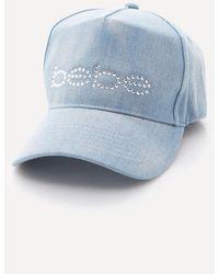 Bebe - Logo Denim Baseball Cap - Lyst