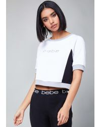 Bebe - Logo Colorblock Top - Lyst