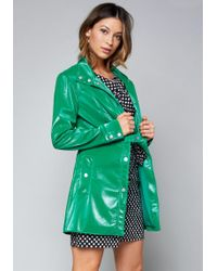 Bebe   Leyla Textured Trench Coat   Lyst