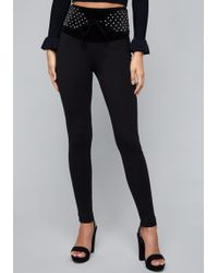 Bebe - Quilted Waist Leggings - Lyst