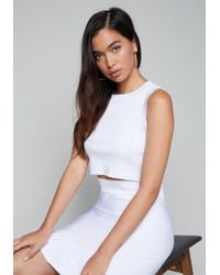 Bebe - Seamed Look Crop Top - Lyst