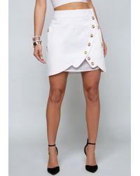 Bebe - Pleated Underlay Miniskirt - Lyst