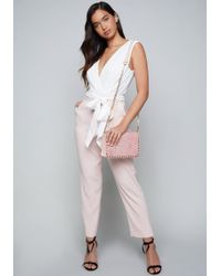 Bebe - Miliana Crop Jumpsuit - Lyst