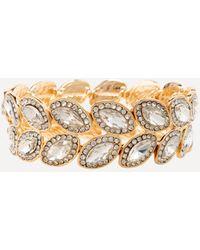 Bebe - Crystal Stretch Bracelet - Lyst