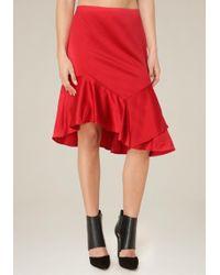Bebe - Asymmetric Ruffle Skirt - Lyst