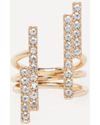 Bebe - Crystal Bars Ring - Lyst