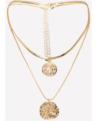 Bebe - Coin Pendant Necklace Set - Lyst