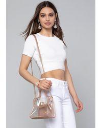 Bebe - Short Sleeve Crop Top - Lyst