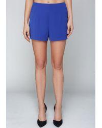 Bebe - Luna Crepe Shorts - Lyst