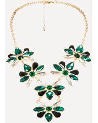 Bebe - Crystal Cluster Necklace - Lyst