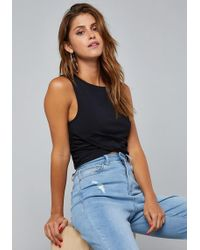 Bebe - Kimber Ruched Wrap Crop Top - Lyst