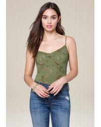 Bebe - Lace Strappy Bodysuit - Lyst