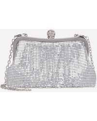 Bebe - Metallic Mesh Clutch - Lyst