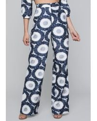 Bebe - Sunfloral Wide Leg Trousers - Lyst