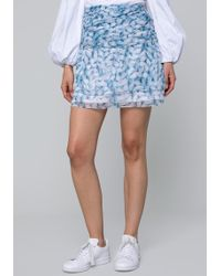 Bebe - Chiffon Ruche Wrap Skirt - Lyst