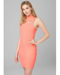fa09fd84de091 Tc Fine Intimates - Front Cutout Knit Party Dress - Lyst