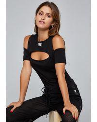 Bebe - Logo Cutout Bodysuit - Lyst