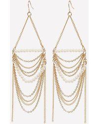 Bebe - Pearly Statement Earrings - Lyst